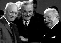 Ike, Dulles, Bech NATO Summit